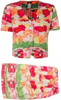 Kenzo Pre Owned 1970's shorts and blouse set
