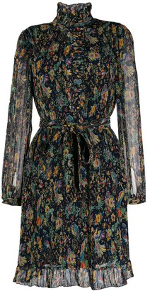 Tory Burch Deneuve floral-print plisse dress