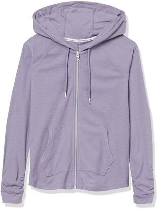 Calvin Klein Women's Ruched Long Sleeve Zip Front Hoodie