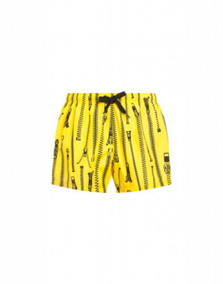 Moschino Zip Beach Boxer Man Yellow Size L It - (m Us)