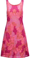 Marchesa Embellished Embroidered Tulle Mini Dress