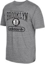 adidas Men's Brooklyn Nets Pointed Tri-Blend T-Shirt