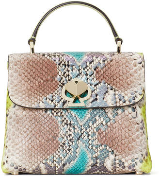 Kate Spade Romy Python-Embossed Mini Top-Handle Bag