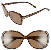 Polaroid Women's 58Mm Polarized Sunglasses - Havana/ Brown Polarized