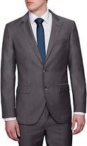 Hackett London Italian Microweave Regular Fit Suit Jacket, Charcoal