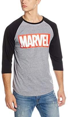 Marvel Comics Men's Logo 3/4 Sleeve T-Shirt,XX-Large