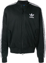 adidas logo zipped bomber jacket