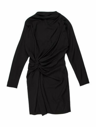 Celine Bateau Neckline Knee-Length Dress w/ Tags Black