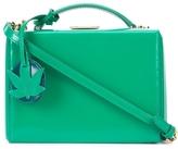 Mark Cross Small Grace Box Bag with Leaf Charm