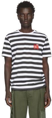 Loewe White and Black William De Morgan Stripe T-Shirt