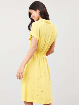 Joules Etty Broderie Woven Dress - Yellow