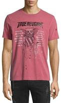 True Religion 4th Skull & Logo-Graphic Short-Sleeve Tee, Ruby