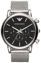 Emporio Armani Men's Chronograph Mesh Strap Watch, 46Mm