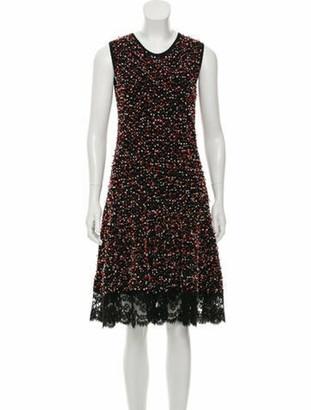 Oscar de la Renta Sleeveless Midi Dress Black