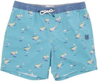 Party Pants Men's Tan Bananas Stretch Shorts