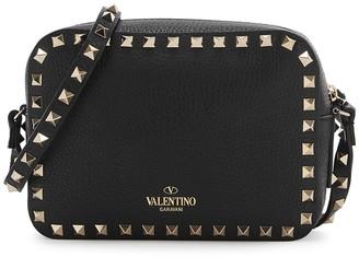 Valentino Garavani Rockstud Black Grained Leather Cross-body Bag