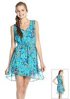 Be Bop Juniors' V-neck Floral Dress