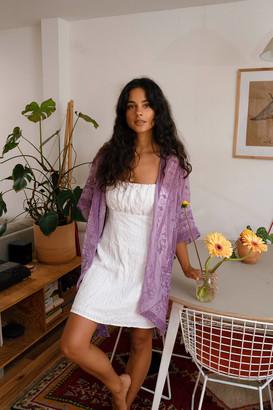 Urban Outfitters Vera Burnout Velvet Robe