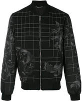 Versace Baroque embroidered bomber jacket