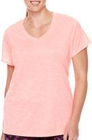 Xersion Short-Sleeve Melange T-Shirt - Plus