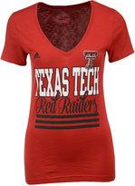 adidas Women's Texas Tech Red Raiders Stripe Stack T-Shirt