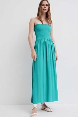 Witchery Strapless Shirred Dress