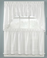 "CHF CLOSEOUT! Peri Pair of Crochet 58"" x 24"" Cafe Curtains"