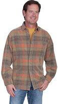 Scully Men's Corduroy Plaid Shirt TR
