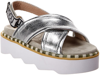 Mou New Bio Crisscross Leather Sandal