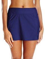 Maxine Of Hollywood Women's Solid Separate Wide-Waistband Short Bikini Bottom