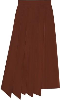 Gucci Asymmetric Pleated Skirt