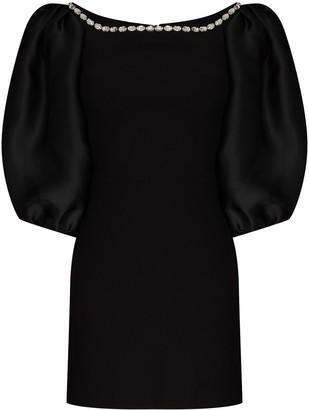 Rasario Crystal-Detail Mini Dress