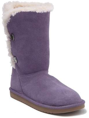 Koolaburra BY UGG Kinslei Tall Suede Genuine Shearling Trim & Faux Fur Lined Boot (Toddler, Little Kid, & Big Kid)