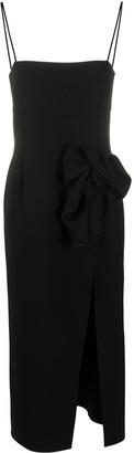 Magda Butrym Square-Neck Long Dress