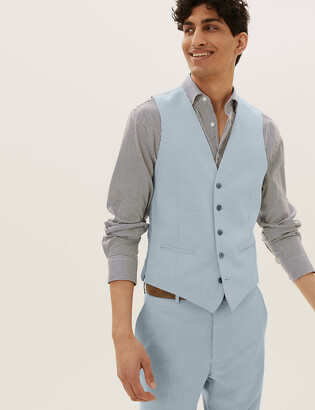 Marks and Spencer Pastel Slim Fit Waistcoat