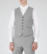 Reiss Reiss Harry W - Modern Fit Waistcoat In Grey, Mens