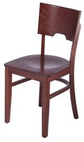 Lipe Solid Wood Side Chair Winston Porter Finish: Mahogany