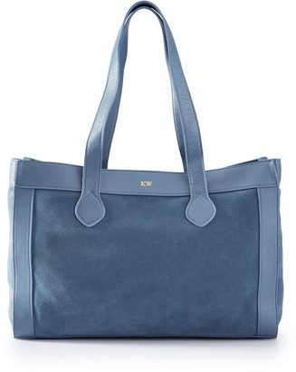 Mark & Graham Leather and Suede Tote