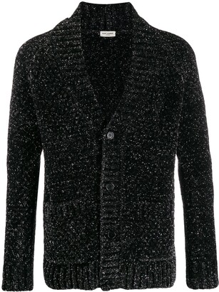 Saint Laurent glitter effect V-neck cardigan