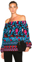 Tanya Taylor Nessa Top in Back Poppy Multi