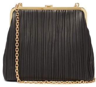 Mark Cross Susannah Pleated Nappa-leather Handbag - Black