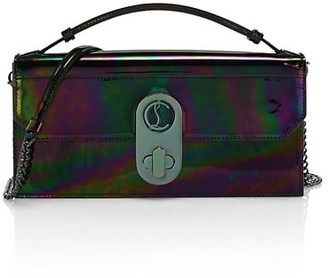Christian Louboutin Elisa Iridescent Leather Baguette
