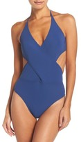 Tory Burch Women's Halter One-Piece Swimsuit