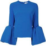 Roksanda bell sleeve top - women - Polyester/Spandex/Elastane/Viscose - 10