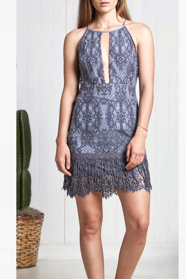 Saylor Blue Lace Dress