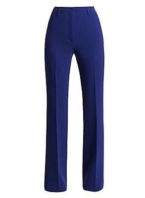 Akris Women's Farrah Wool Wide Leg Trousers
