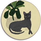 Avenida Home - Anne Bentley Cats Coaster - Persian Blue