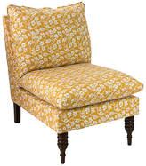 One Kings Lane Daphne Slipper Chair - Ochre Vine