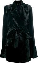 Ann Demeulemeester robe coat - women - Silk/Polyester/Acetate/Rayon - 38