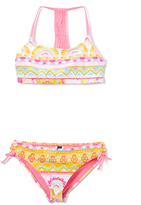 Vigoss Sugar Plum Summer Love Macrame-Accent Bikini - Girls
